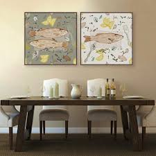 Modern Fish Dish Poster Print Animal Picture Vintage Retro Japanese Kitchen Home Restaurant Wall Art Decor