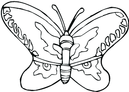 Color Page Butterfly Simple Coloring Pages Butterflies To For Monarch Caterpillar