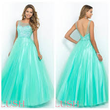 mint green 2015 new blush 5410 prom pageant dresses sheer scoop