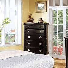 Black Dresser 5 Drawer by Shop Furniture Of America Laguna Hills Black 5 Drawer Dresser At
