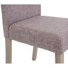 4x esszimmerstuhl littau stuhl küchenstuhl textil grau beine struktur eiche