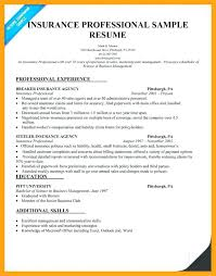 Insurance Agent Resume Sample From Examples