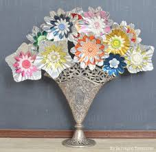 Bouquet Of Aluminum Christmas Tree Light Reflectors By My Salvaged Treasures Featured On