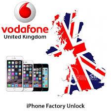 iPhone 6 6 5 4S 4 3GS 3 vodafone Full Factory Unlock Service