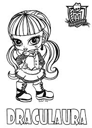 Baby Draculaura Printable Coloring Sheet From JadeDragonne At
