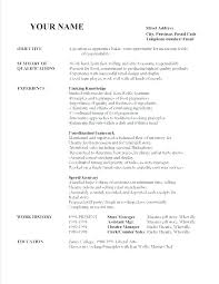 Cleaner Resume Template Sample For G Job In Templates