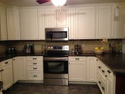 Black Brick Style Kitchen Tile Backsplash Ideas With White Cabinets French Country Gray Marble