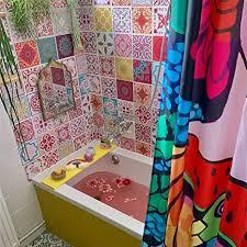bunte kimmes badezimmer wandaufkleber marokkanische rote fliesen 72 stück 15 cm x 15 cm für bastelarbeiten heimdekorationen