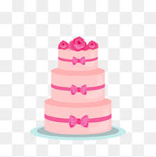 Vector pink cake Layer Cake Wedding Rose PNG and Vector
