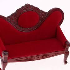fenteer 1 12 puppenhausmöbel aus holz mini sofa sessel