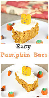 Pumpkin Cake Mix Bars by Top 25 Best Easy Pumpkin Bars Ideas On Pinterest Pumpkin Bars