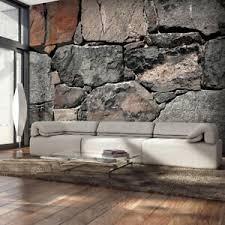 details zu vlies fototapete stein optik steinwand grau tapete wohnzimmer wandbilder 191