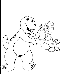 Inspirational Barney Coloring Pages 42 For Books With