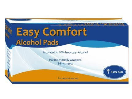 Home Aide Alcohol Pads - 100 Count