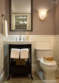 Small Beige Bathroom Ideas beige bathroom interior design idea with perfect black wood vanity