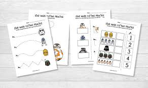 Star Wars Cutting Practice Worksheets For Early Learners