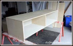 Pottery Barn Desks Used by Diy Design Fanatic Pottery Barn Knockoff Storage Bed Finished
