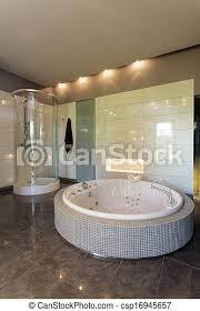 whirlpool im geräumigen badezimmer whirlpool und dusche in