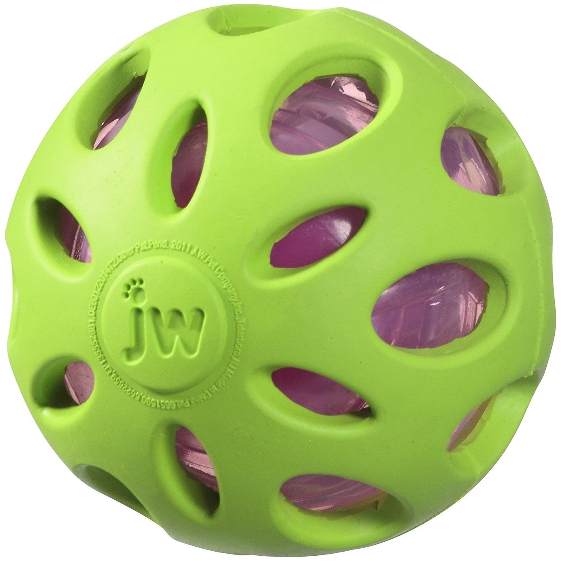 JW Pet Company Crackle Heads Crackle Ball Dog Toy - Colors Vary, Medium