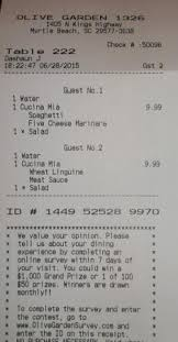 $22 08 the check Picture of Olive Garden Myrtle Beach TripAdvisor