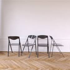 Magro Folding Chairs X 4 – Matte Grey
