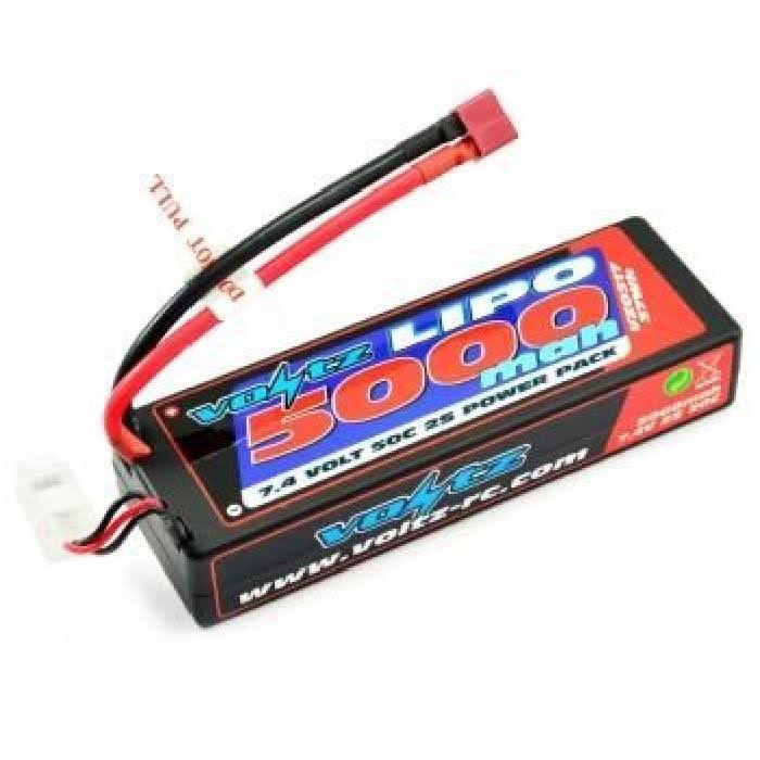 Voltz 5000mAh 2S 7.4V 50c Hard Case Lipo Stick Pack Battery VZ0317