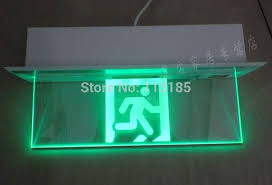 wholesale new design 5w green light glass panel 3 hours duration