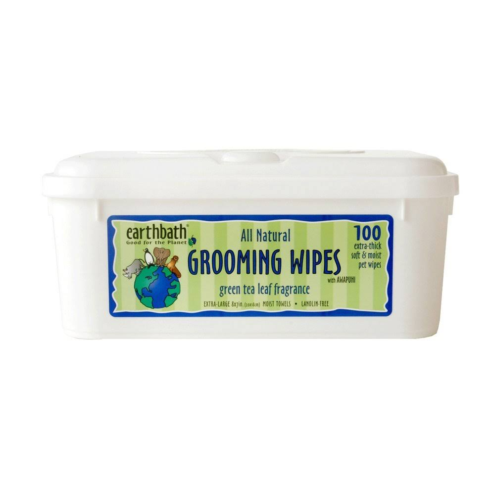 Earthbath Grooming Wipes - Green Tea Leaf