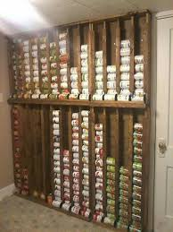 Space saving food storage and rotation system For renters build