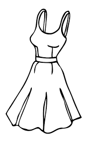 wedding dress clipart outline