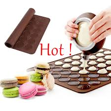48 loch silikon macaron backform pad backen runde matte diy kuchen maker form macaron back matte isolierung matte küche gadgets