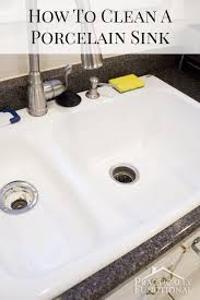 how to clean ceramic kitchen sink sink ideas