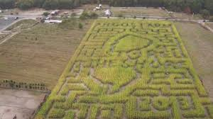 Pumpkin Farms Toms River Nj by Argos Farm Corn Maze Aerial Video 10 5 13 Youtube