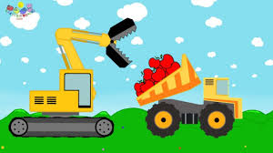 Construction Machines For Kids | Excavator And Truck - Fence ...