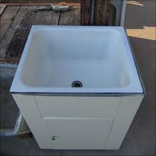 Plastic Utility Sink With Drainboard by Kitchen Deep Porcelain Utility Sink Laundry Wash Basin Sink
