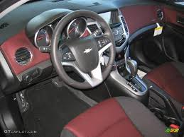Jet Black Sport Red Interior 2013 Chevrolet Cruze ECO