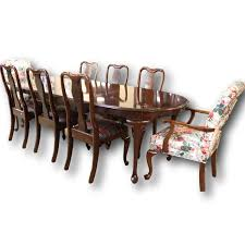 Ethan Allen Bombe Secretary Desk by Ethan Allen Dining Table W 8 Chairs Upscale Consignment