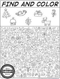 Find And Color Christmas Doodle Freebie