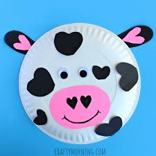Heart Paper Plate Cow Valentine Craft For Kids