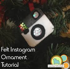 Hipster Week Day 2 Felt Instagram Ornament