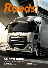 Roads #1, 2017 (Quon Cover) By UD Trucks Corporation - Issuu Ud Trucks Wikipedia To End Us Truck Imports Fleet Owner Quester Announces New Quon Heavyduty Truck Japan Automotive Daily Bucket Boom Tagged Make Trucks Bv Llc Extra Mile Challenge 2017 Malaysian Winner To Compete In Volvo Launches For Growth Markets Aoevolution Used 2010 2300lp In Jacksonville Fl