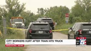 100 Liberty Truck Stop Two City Employees Hurt After Train Truck Collide In YouTube