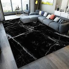schwarz weiß marmor 3d gedruckt teppiche für wohnzimmer schlafzimmer bereich teppich sofa tisch küche boden matte zimmer tatami teppich