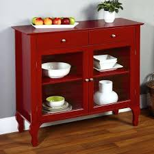 Red Hutch Inspiring Buffet Sideboard China Cabinet Server Table Country Of For Kitchen Trends
