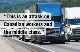 100 Ontario Trucking Association Teamsters Denounce Plan To Create Sweatshop On Wheels Teamsters Canada
