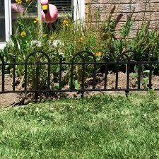 Decorative Garden Fence Border by Garden Border Fencing 4 Plastic Lawn Fence Panels Set Edging