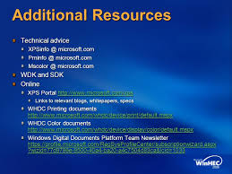 Additional Resources Technical Advice WDK And SDK Online