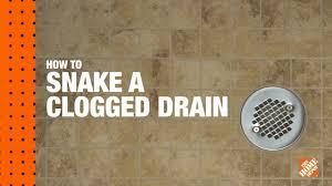 Bathtub Drain Clogged With Dirt by How To Snake A Clogged Drain A Diy Digital Workshop Youtube