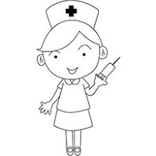 Nurse With The Syringe In Her Hand Beautiful On Duty Coloring Pages