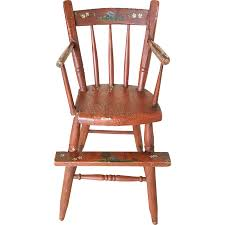 Antique Brittany French Carved Wooden Doll Chair Spotlight ...